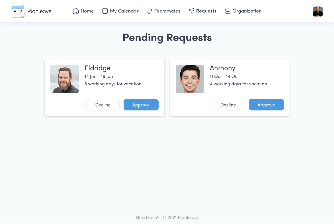 Manage Time Off Requests with Planleave